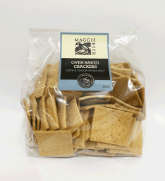 Oven Baked Crackers with a Touch of Sea Salt