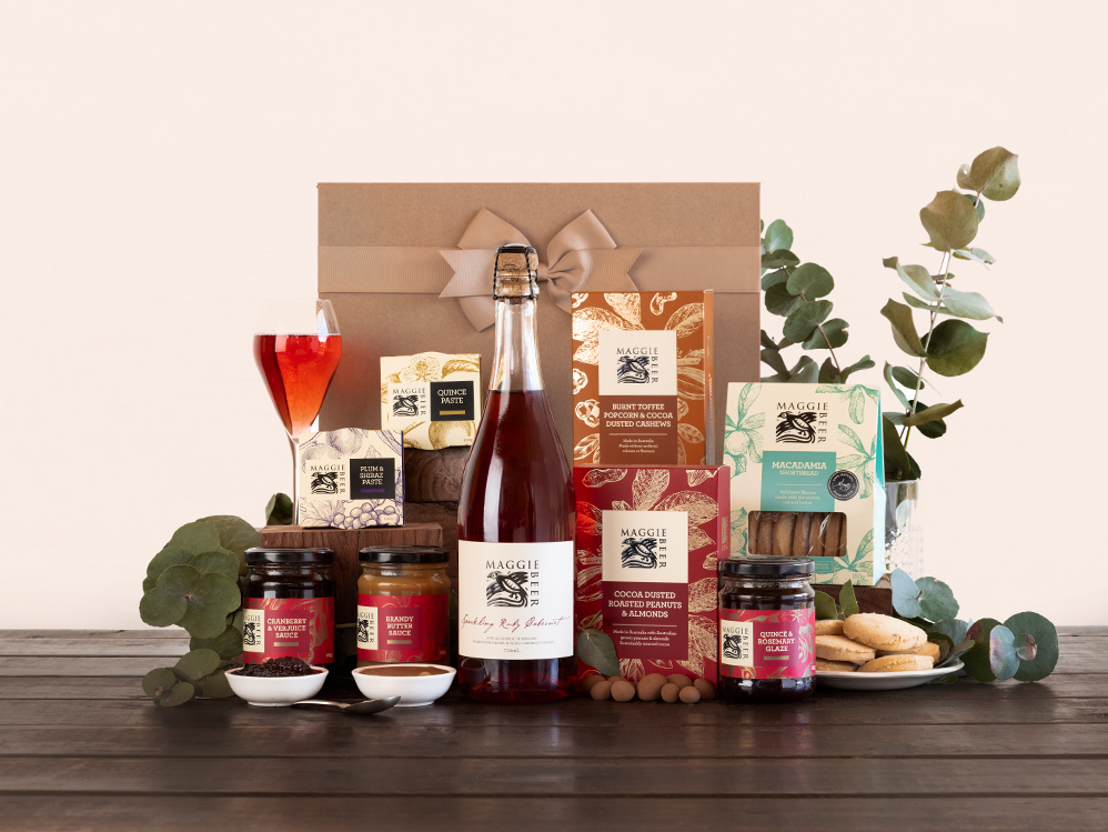 Christmas Treats Hamper with Ruby Cabernet
