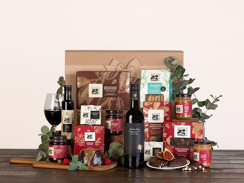 Yuletide Cheer Christmas Hamper with Red Wine